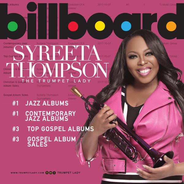 Syreeta Thompson ALbum Release Plan debuts evlution of a winner on the Billboard charts
